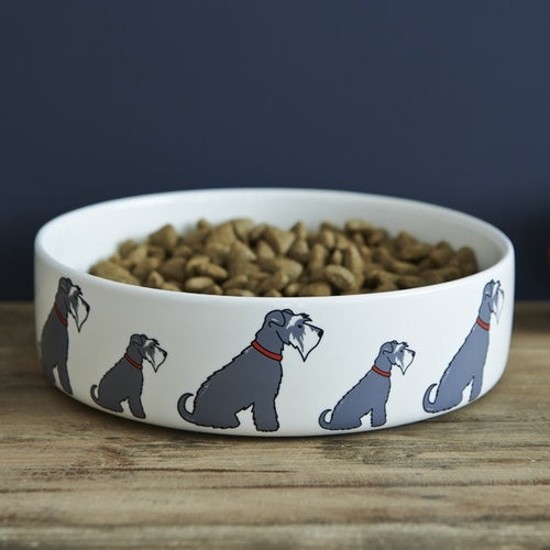 Schnauzer Dog Bowl - Small