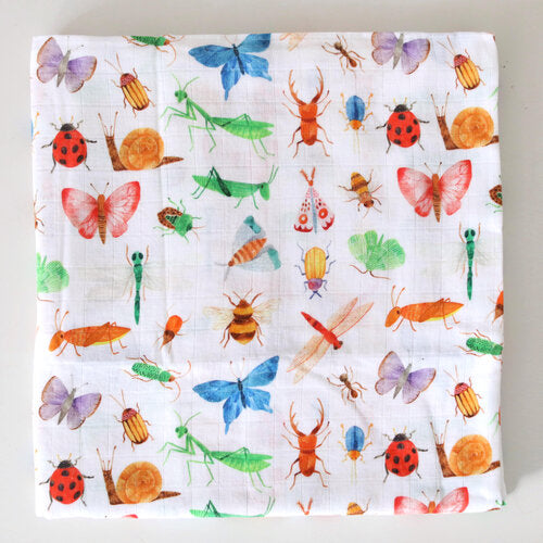 Muslin Baby Wrap - Insects