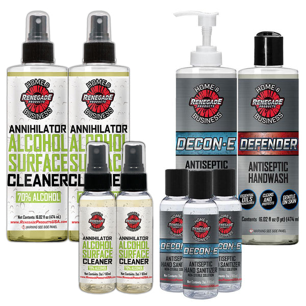 Renegade Products Cleaner and Sanitizer Travel Bundle
