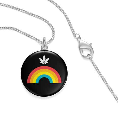 Rainbow Leaf Single Loop Necklace