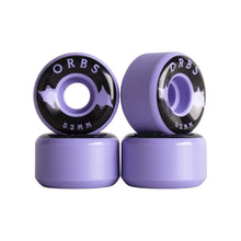 Load image into Gallery viewer, Welcome Orbs Specters Skateboard Wheels 52mm 99A Purple/Black