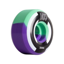 Load image into Gallery viewer, Welcome Orbs Apparitions Skateboard Wheels 56mm 99A Mint/Lavendar