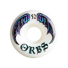 "Load image into Gallery viewer, Welcome Orbs Specters ""Wings"" Skateboard Wheels 52mm 99A White"
