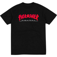 "Load image into Gallery viewer, Thrasher ""GODZILLA"" S/S T-Shirt Black/Red - Feet First NJ"