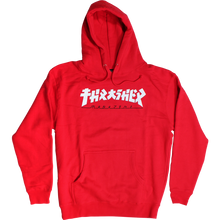 "Load image into Gallery viewer, Thrasher ""GODZILLA"" L/S Hoodie Red/White - Feet First NJ"