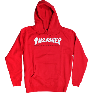 "Thrasher ""GODZILLA"" L/S Hoodie Red/White - Feet First NJ"