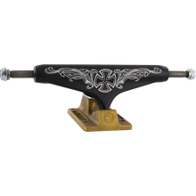 Load image into Gallery viewer, Independent Stage 11 Pro Steve Caballero Trucks 149mm Flourish Black/Gold (Pair) w/Free Shortys Hardware - Feet First NJ