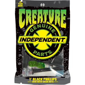 "Independent x Creature Limited Edition 1"" Phillips Hardware Set Black/Green - Feet First NJ"