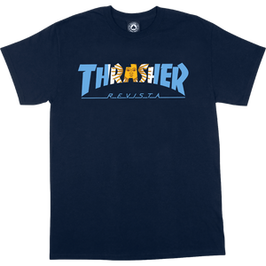 "Thrasher ""ARGENTINA"" S/S Navy Blue T-Shirt - Feet First NJ"