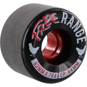 Free Wheel Co. Free Range 62mm 78A Black/White/Red 4 Pack - Feet First NJ