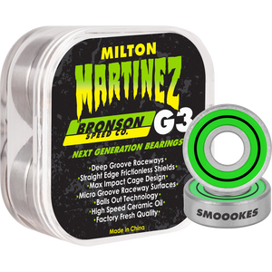 Bronson Speed Co. x Creature Milton Martinez Pro Colorway G3 Bearings 8 Pack