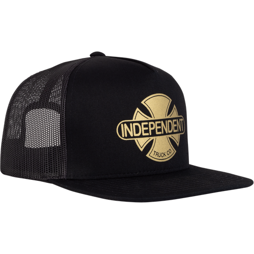 Independent Truck Co. Baseplate Snapback Mesh Trucker Hat Black/Gold OS