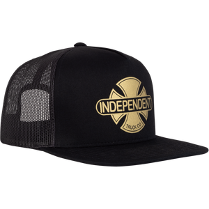 Independent Truck Co. Baseplate Snapback Mesh Trucker Hat Black/Gold OS - Feet First NJ