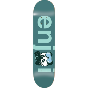 "Enjoi No Brainer Gas Mask Deck 8.125"" x 32"" Teal w/Free Mob Griptape - Feet First NJ"