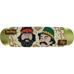 "Flip Tom Penny 50th Anniversary ""Cheech and Chong"" Skateboard Deck 8.0"" w/Free MOB Griptape - Feet First NJ"