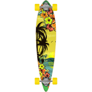 "Punked ""Tropic Day"" Pintail Longboard Complete 9.0"" x 40"""