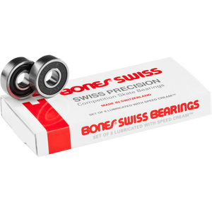 Bones Swiss Precision Competition Skateboard Bearings 8 Pack - Feet First NJ