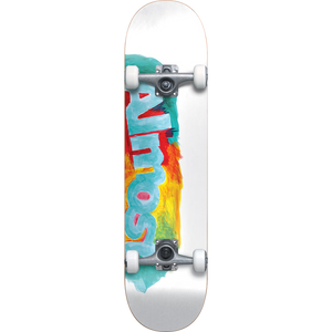 "Almost ""Paint Smudge"" Complete Skateboard White 7.5"""