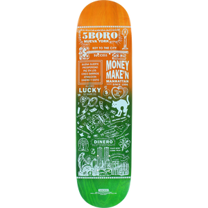 "5Boro Lucky Candle Manahattan Deck 8.0"" w/Free Mob Griptape"
