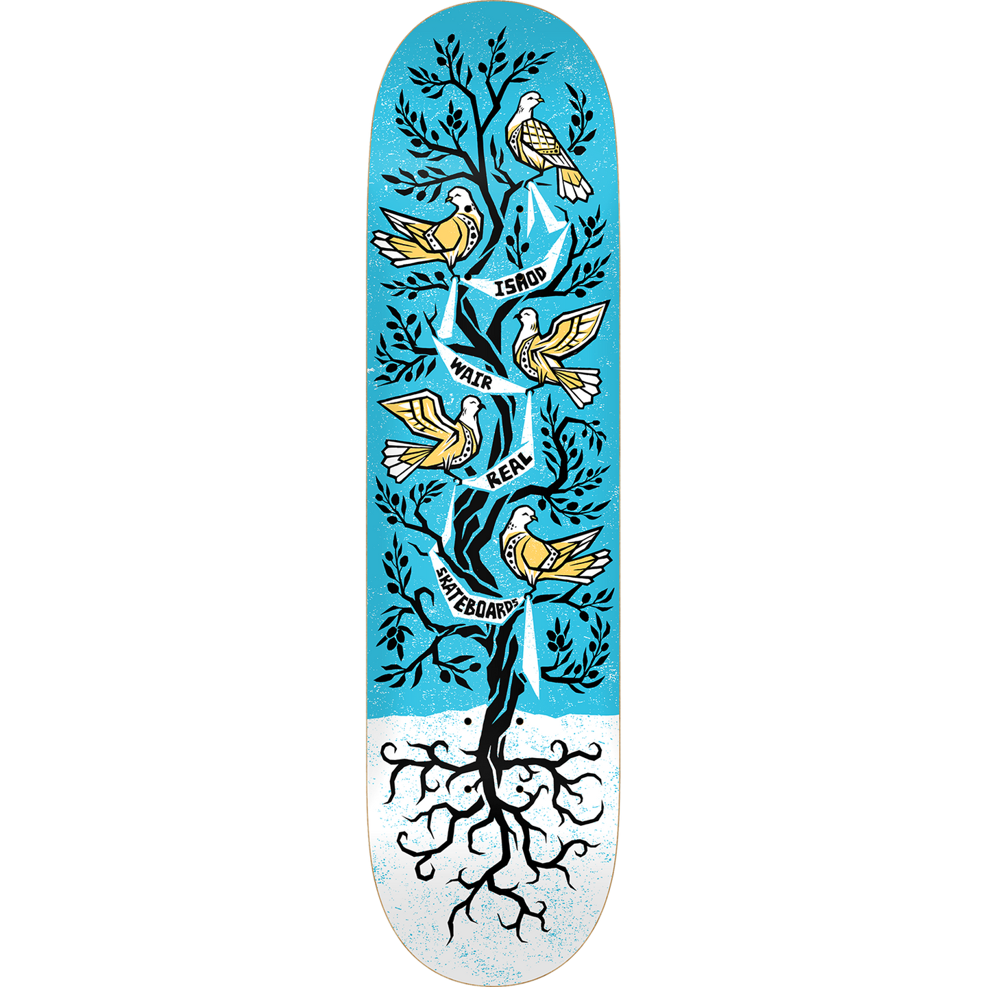 Real Ishod Wair Peace Tree R1 Skateboard Deck 8.38