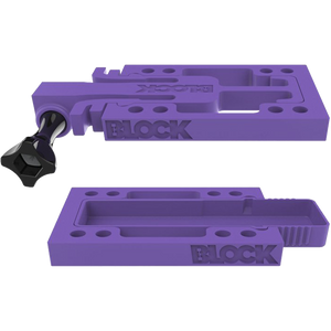Block GoStash Combo GoBLOCK + StashBlock Universal Skateboard Risers Purple - Feet First NJ