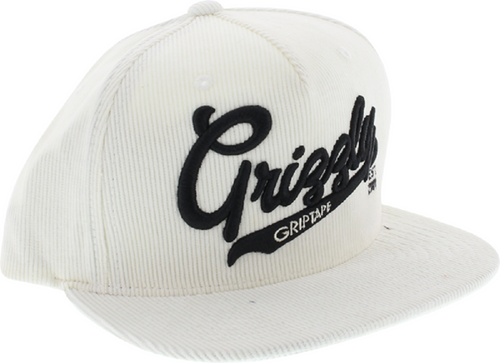 Grizzly x Diamond Supply Co. x Starter Black Label Corduroy Snapback Hat White/Black