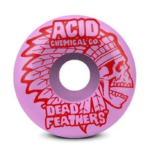 "Acid Chemical Co. ""Dead Feathers Type A Pink Side Cuts 99A Wheels 4 Pack (Size 53mm) - Feet First NJ"