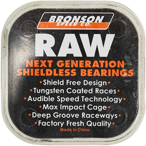 Bronson Speed Co. Raw Shieldless Bearings 8 pack