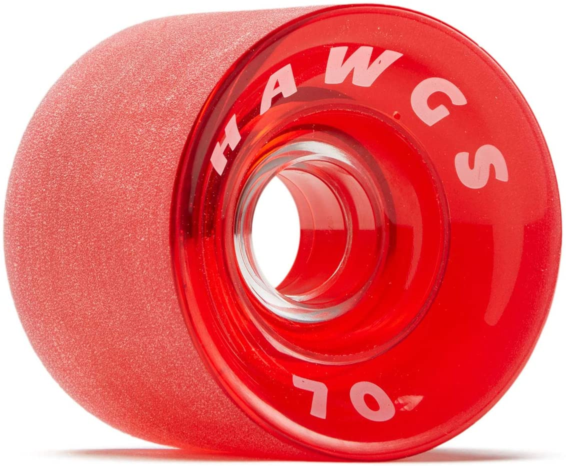 Hawgs Supremes 78a Longboard Wheels Clear Red 70mm