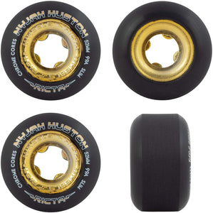 Ricta Skateboard Wheels Nyjah Huston Chrome Core Black/Gold 52MM 99A