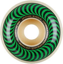 Load image into Gallery viewer, Spitfire Formula Four Skateboard Wheels Natural/Green/Gold 52mm 101DU (4 Pack)