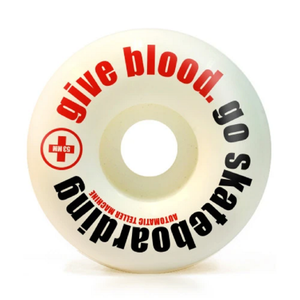 "ATM Skateboards ""Go Skateboarding/Give Blood"" Wheels 54mm 99a 4 Pack - Feet First NJ"