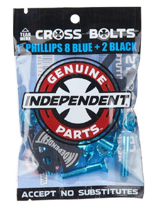 Independent Genuine Parts Limited Edition Phillips Hardware w/Tool 1″ Black/Metallic Blue - Feet First NJ