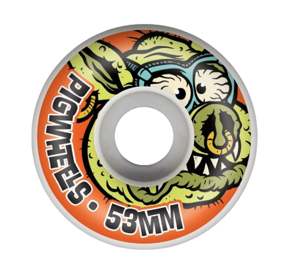 Pig Toxic ProLine Skateboard Wheels 53mm 101a (Pack of 4)