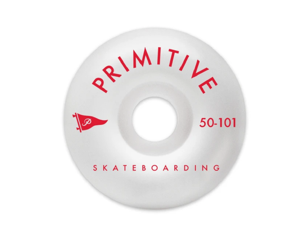 Primitive Pennant Arch Team Wheels Red 50mm 101A 4 Pack - Feet First NJ