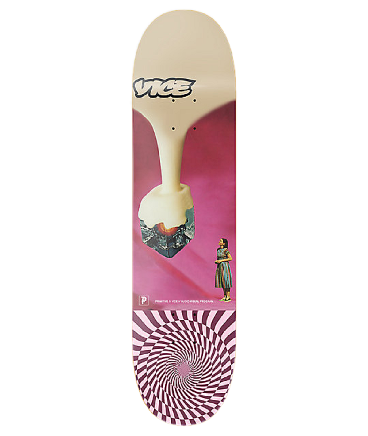 Primitive x Vice Mag 25 Year Anniversary Skateboard Deck 8.0