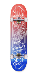 "Primitive Rodriguez ""Eagle"" Complete Skateboard 8.0"" Red/White/Blue"