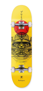 "Primitive Rodriguez ""Warrior"" Complete Skateboard 7.75"" Yellow/Black/Red"