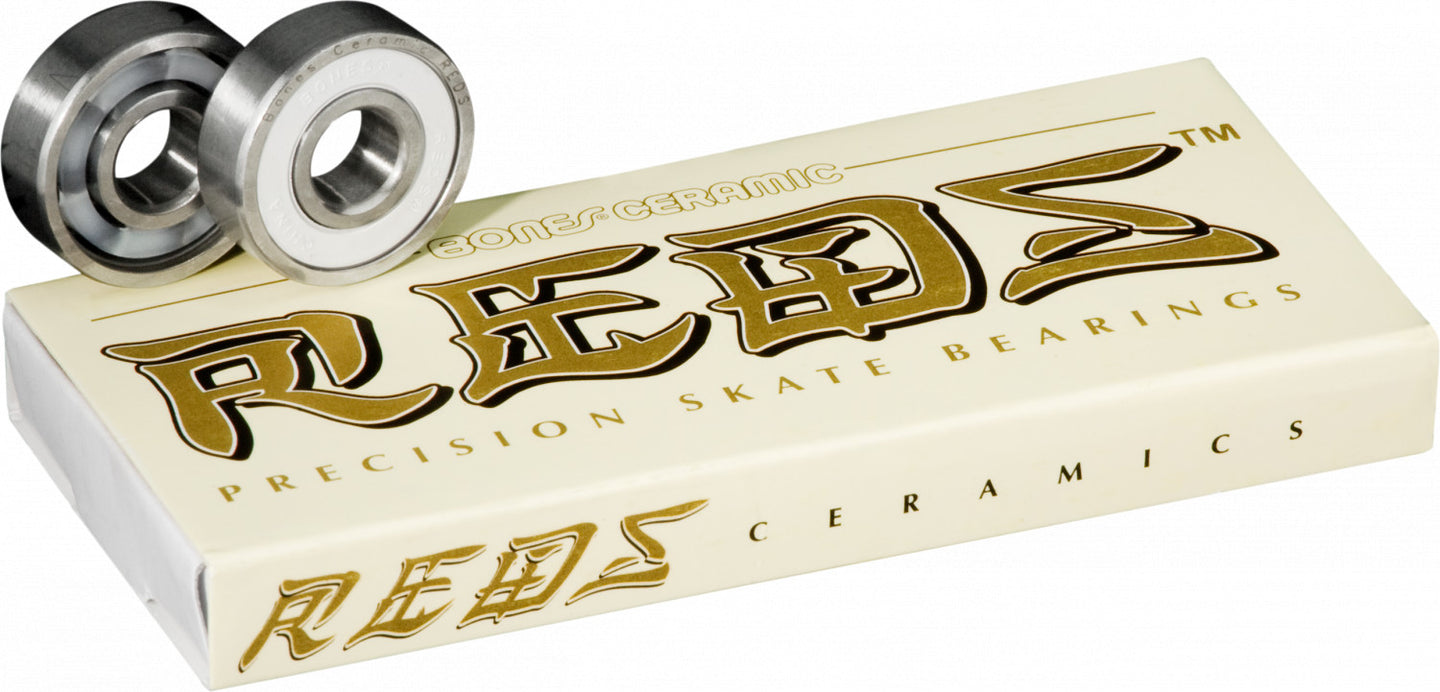 Bones Ceramic Super Reds Precision Skate Bearings 8 Pack