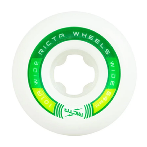 Ricta Rapido Wides Skateboard Wheels White/Green 54MM 101A