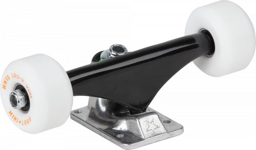 Mini Logo Black/Raw Skateboard Trucks W/A-Cut 8.0