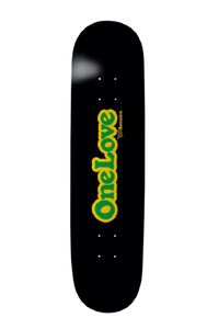 "Thank You Skateboards Limited Edition Jamaica ""One Love"" Deck w/Free MOB Griptape"