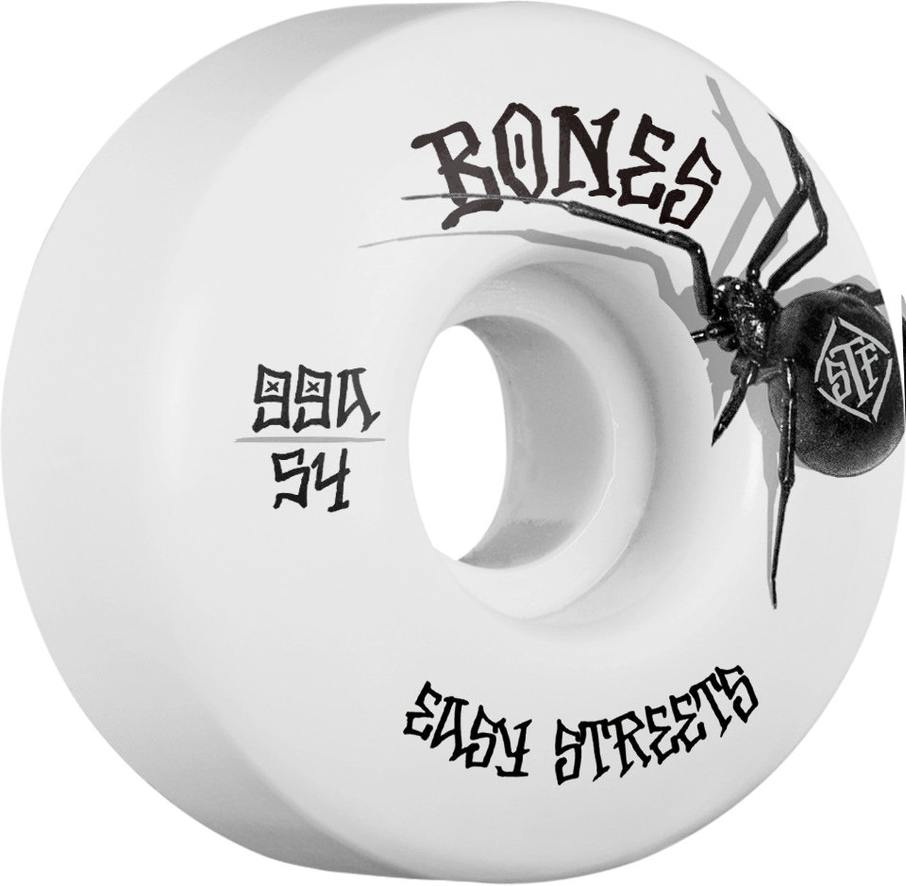 Bones V1 Standard Street Tech Formula Black Widow 54mm 99A Wheels 4 Pack