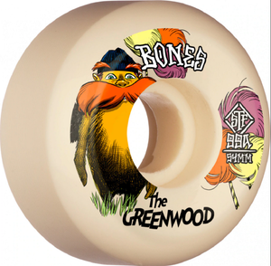 "Bones STF V5 Sidecut Nate Greenwood ""The Greenwood"" Skateboard Wheels 54mm 99a (4 Pack)"