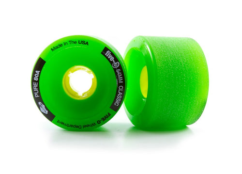 Bustin Boards Five-O Wheels Classic Green 64mm 80A 4 Pack