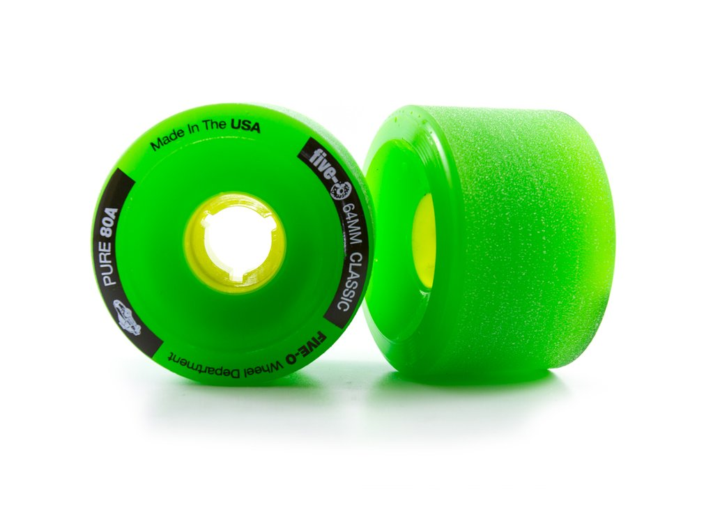 Bustin Boards Five-O Wheels Classic Green 64mm 80A 4 Pack - Feet First NJ