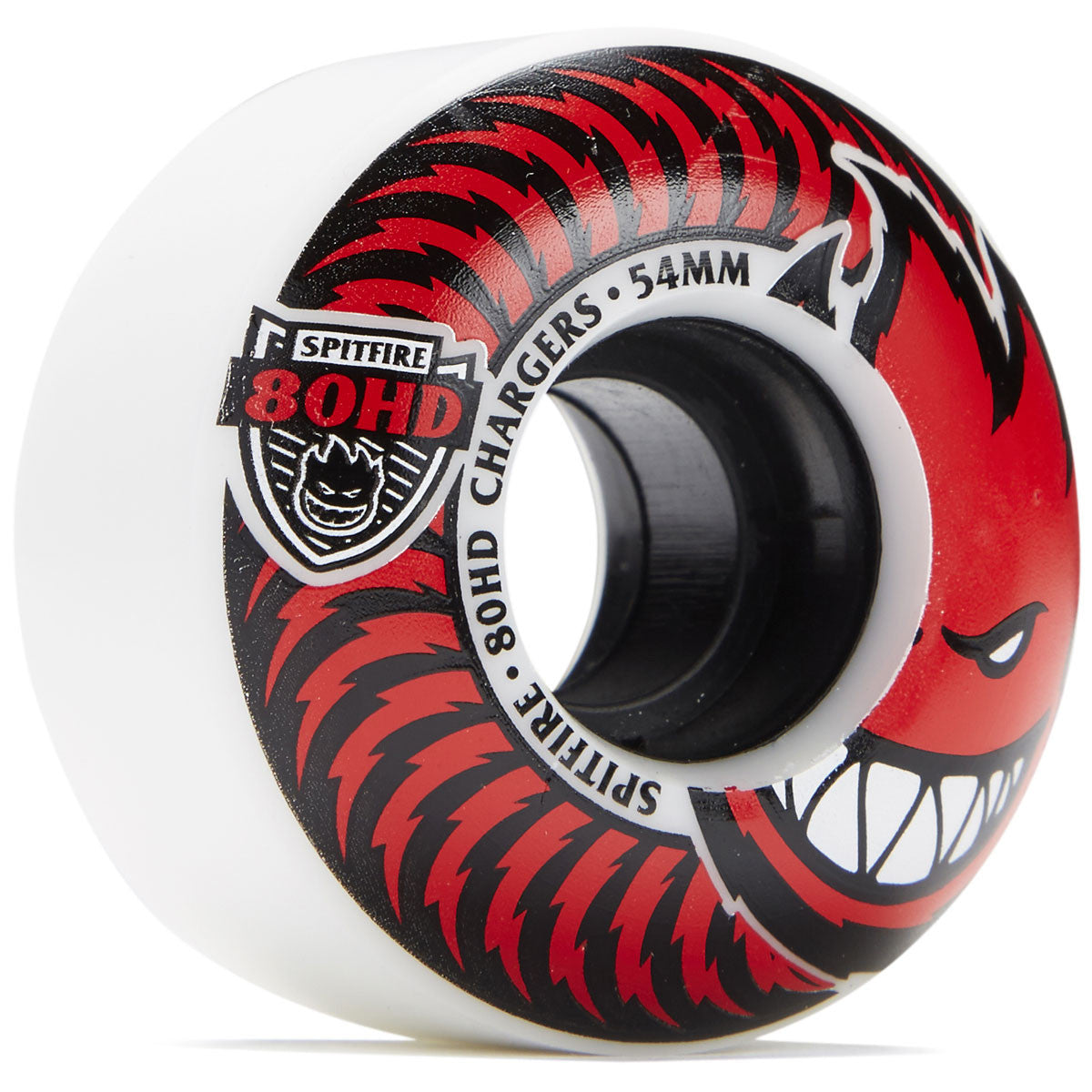 Spitfire 80HD Classic Chargers Soft Wheels Clear/Red 56mm 4 Pack - Feet First NJ