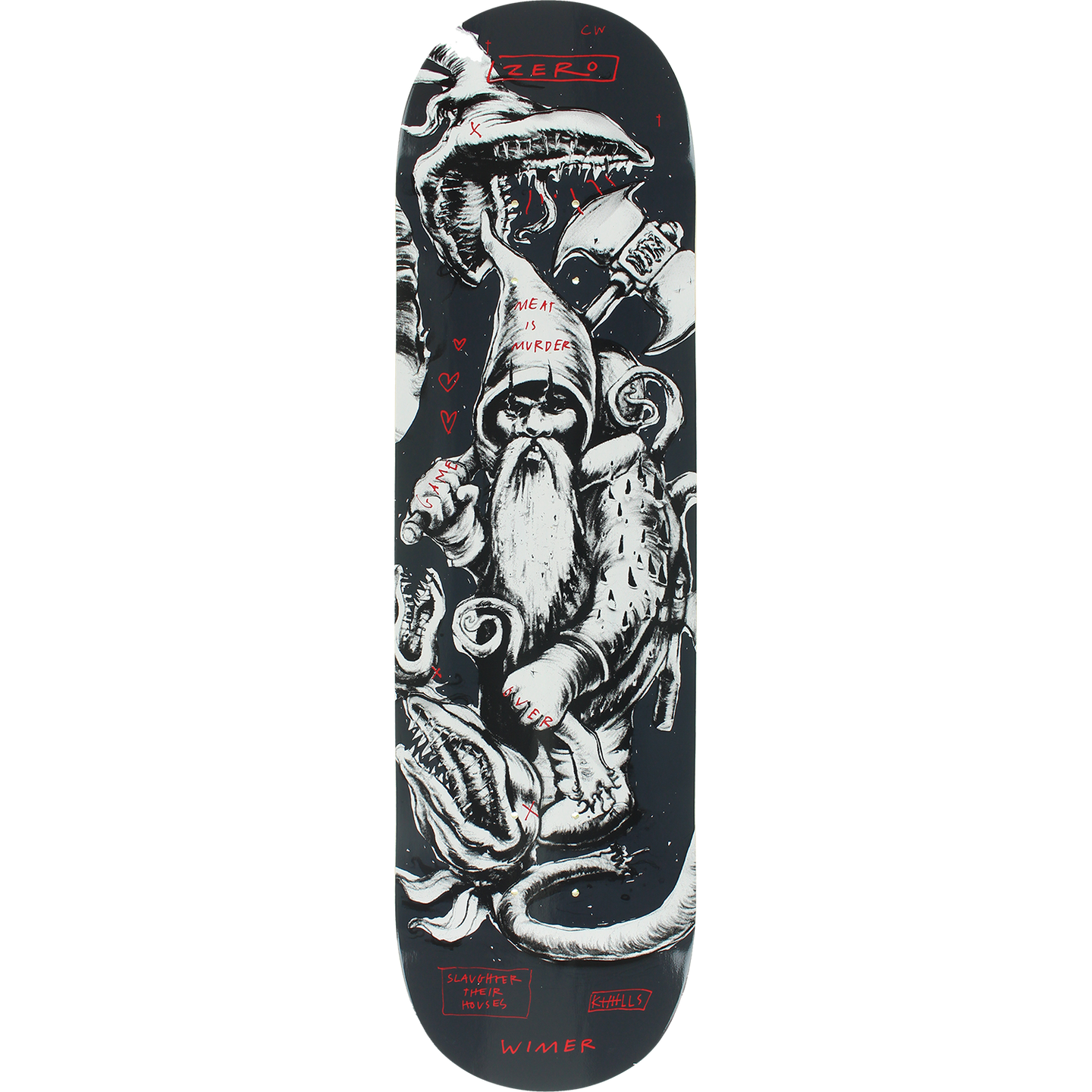 Zero Chris Wimer Gnarly Gnomes Skateboard Deck 8.25