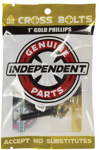 "Independent Cross Bolts Limited Edition 7/8"" Phillips Hardware Set Black/Gold"