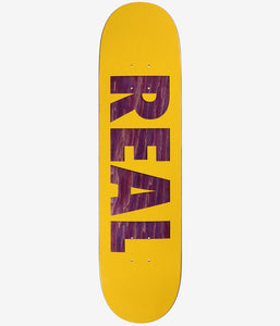 "Real Bold Team R1 Skateboard Deck 8.06"" Yellow/Purple w/Free MOB Griptape"